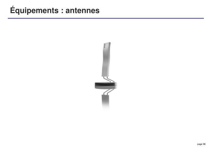 Équipements : antennes