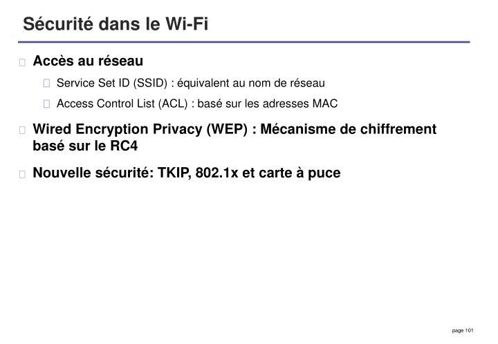 Sécurité dans le Wi-Fi