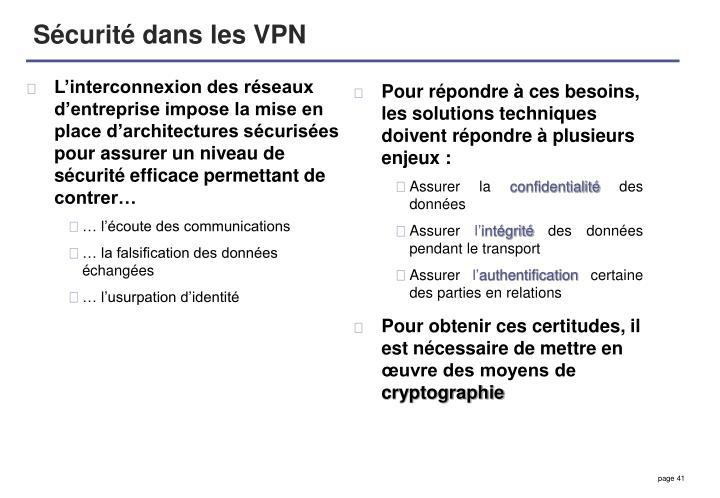 L'interconnexion des réseaux d'entreprise impose la mise en place d'architectures sécurisées pour assurer un niveau de sécurité efficace permettant de contrer…
