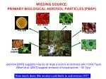missing source primary biological aerosol particles pbap