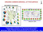 organic carbon aerosol at the surface