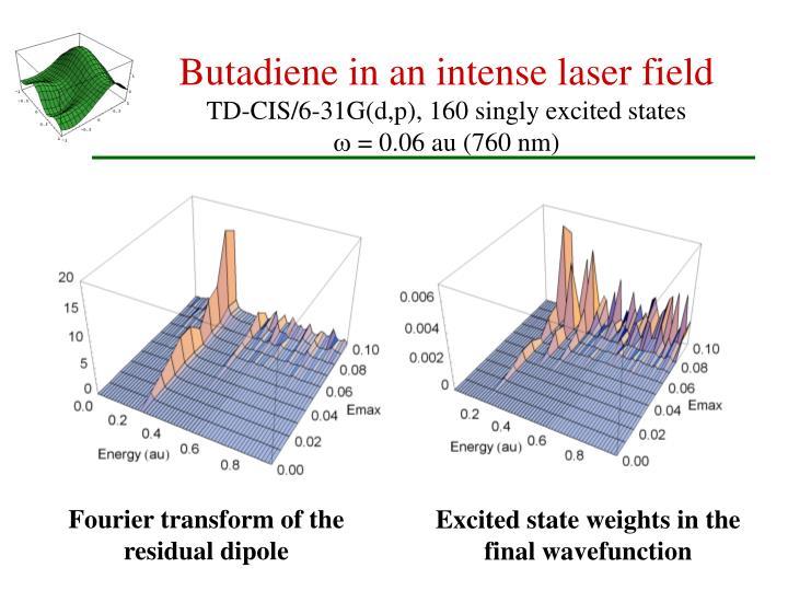 Butadiene in an intense laser field