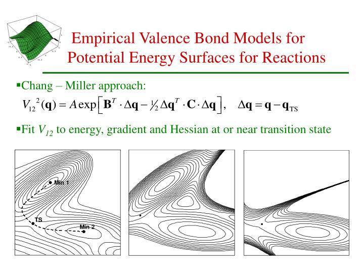 Empirical Valence Bond Models for Potential Energy Surfaces for Reactions