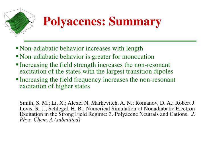 Polyacenes: Summary