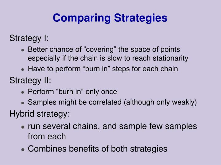 Comparing Strategies
