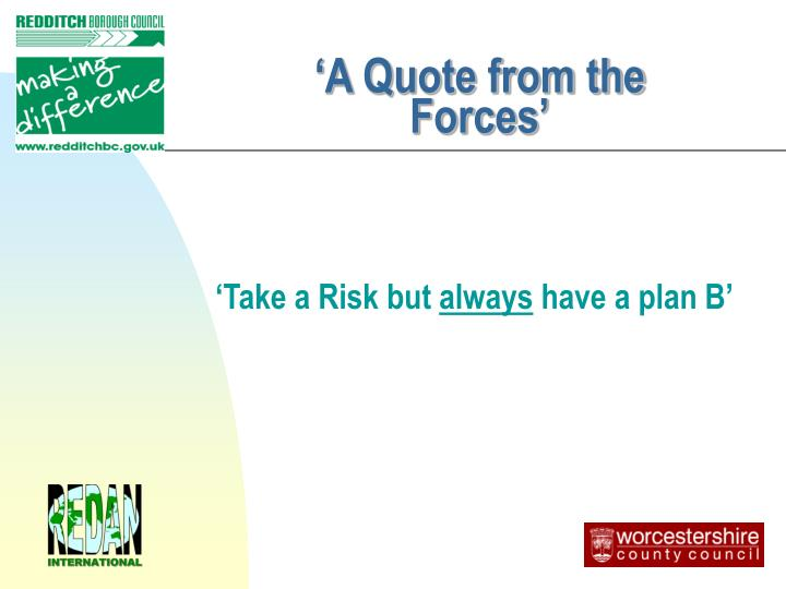 'A Quote from the Forces'