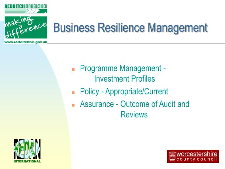 Business Resilience Management