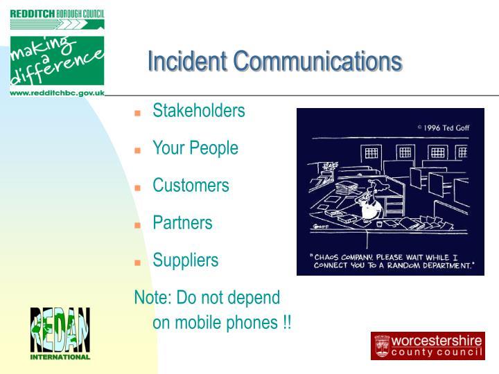 Incident Communications