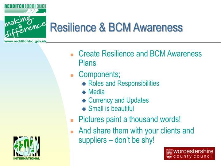 Resilience & BCM Awareness