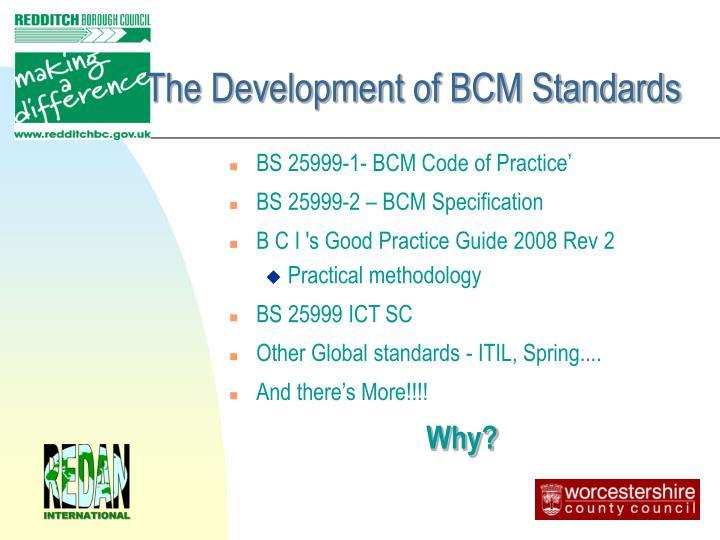The Development of BCM Standards