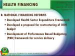health financing1