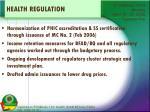 health regulation