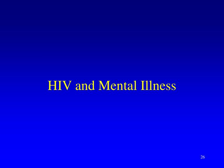 HIV and Mental Illness