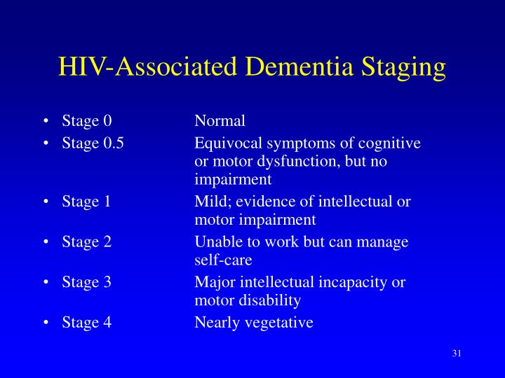 HIV-Associated Dementia Staging