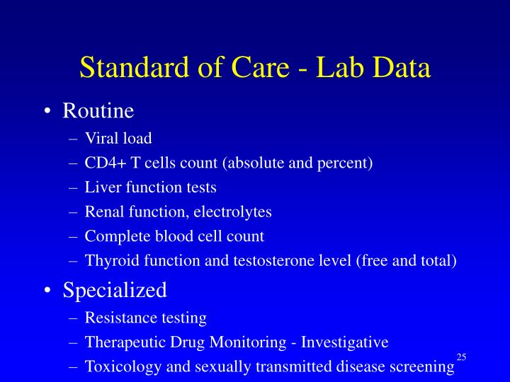 Standard of Care - Lab Data