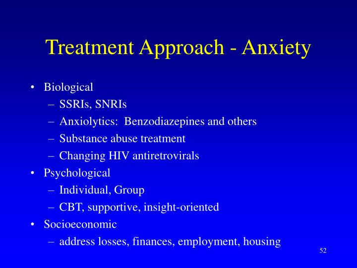 Treatment Approach - Anxiety