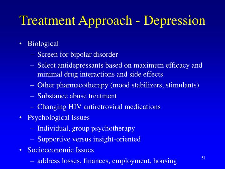 Treatment Approach - Depression