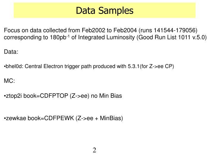 Data samples