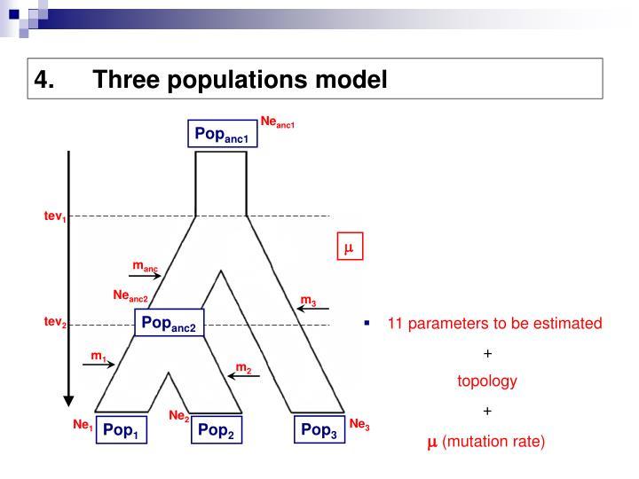 Three populations model