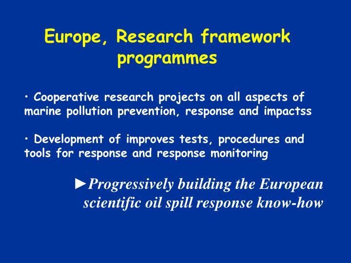 Europe, Research framework programmes