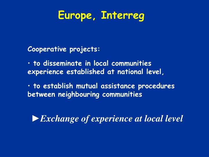 Europe, Interreg
