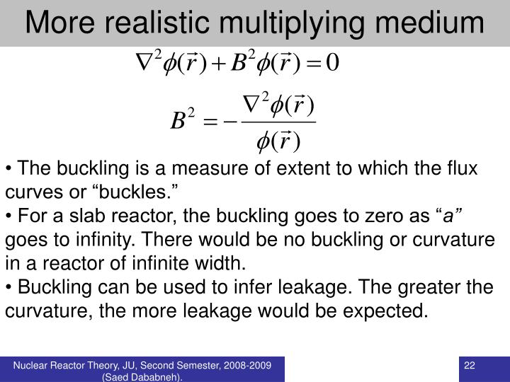 More realistic multiplying medium
