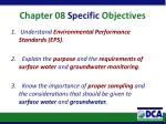 chapter 08 specific objectives