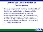 landfill gas contamination of groundwater1