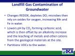landfill gas contamination of groundwater2