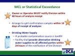 mcl or statistical exceedance