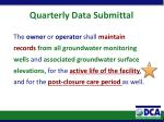 quarterly data submittal2