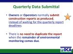 quarterly data submittal3