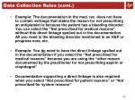 data collection rules cont