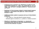 lessons learned from py1 data collection audit