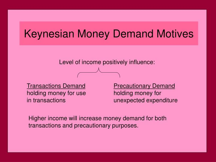 Level of income positively influence: