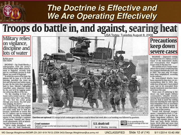 The Doctrine is Effective and