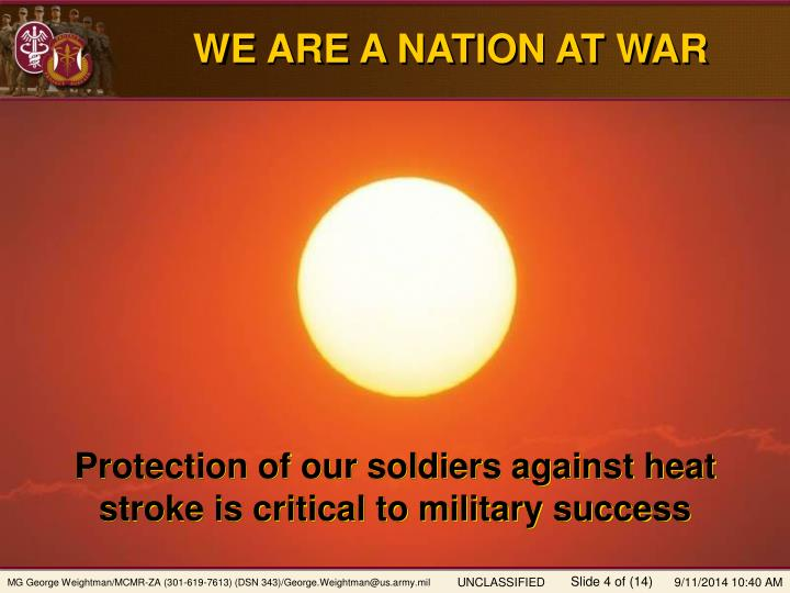 WE ARE A NATION AT WAR