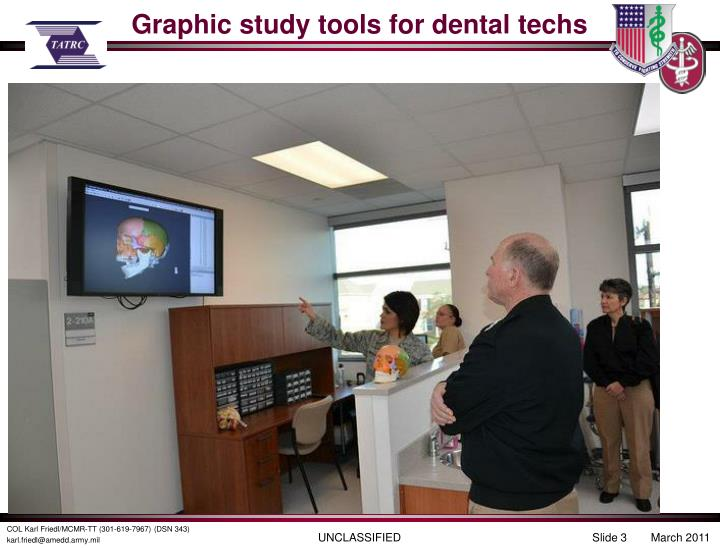 Graphic study tools for dental techs