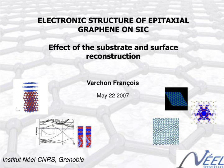 ELECTRONIC STRUCTURE OF EPITAXIAL GRAPHENE ON SIC