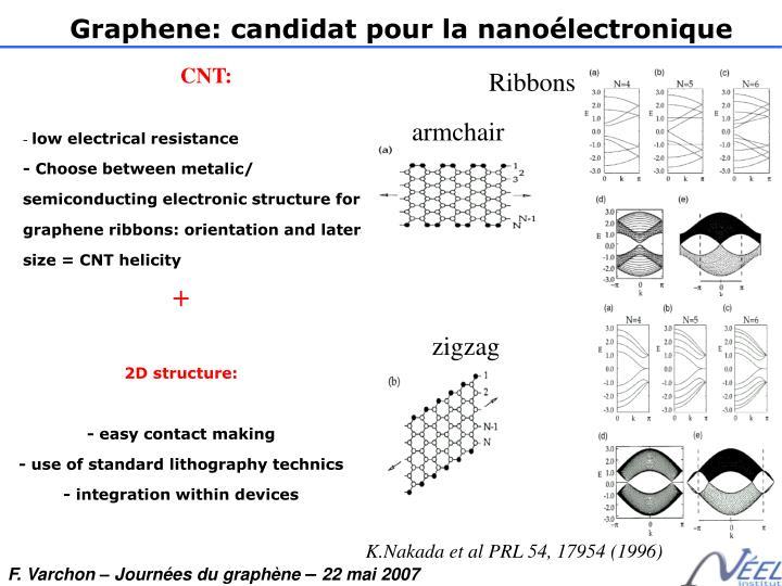 Graphene: candidat pour la nanoélectronique