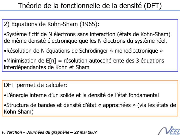 Théorie de la fonctionnelle de la densité (DFT)