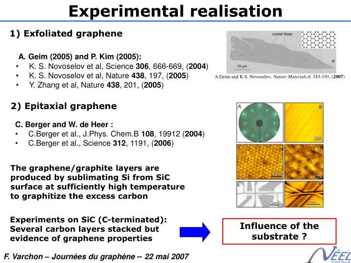 Experimental realisation