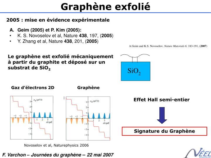 Graphène exfolié