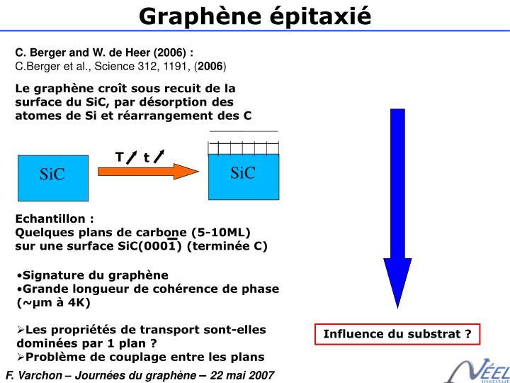 Graphène épitaxié