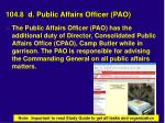 104 8 d public affairs officer pao