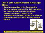 104 8 f staff judge advocate sja legal officer