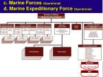 c marine forces operational d marine expeditionary force operational