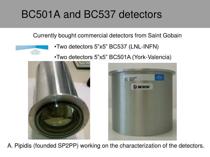 BC501A and BC537 detectors