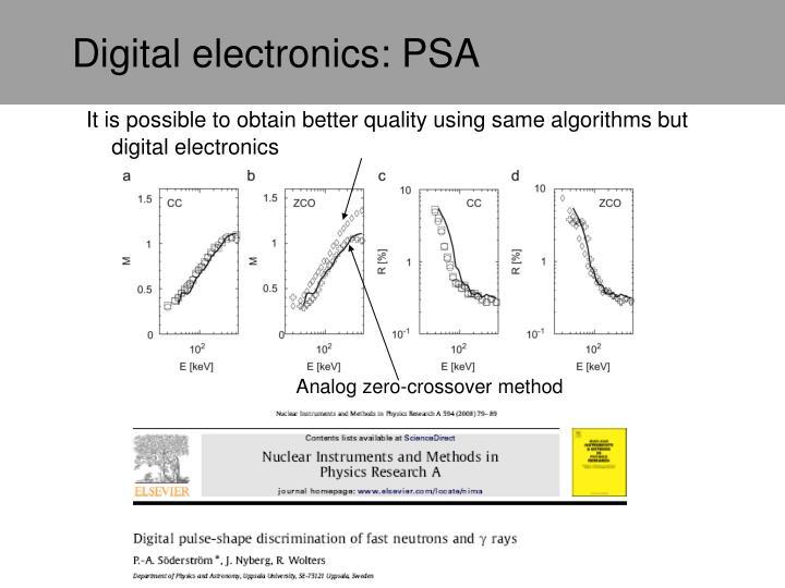 Digital electronics: PSA