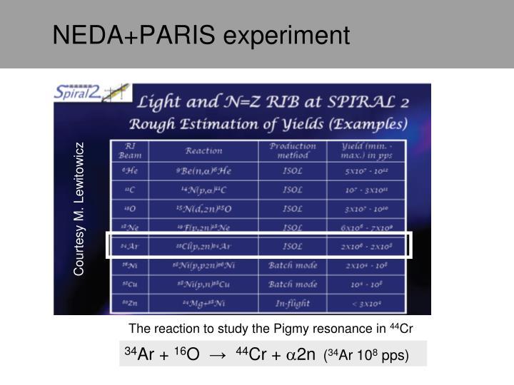 NEDA+PARIS experiment